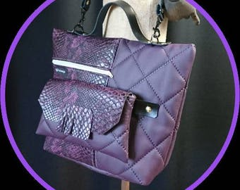 Purple handbag snake