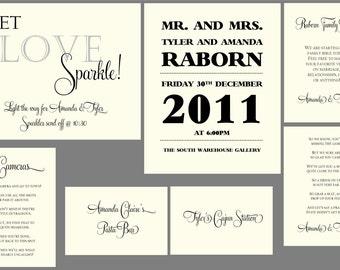 Custom Wedding Signs & Stationery