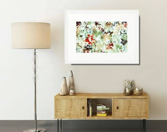 Framed Watercolor, Abstract Art Print, Pastel Wall Art, Green Watercolor, Watercolor Wall Art, Framed Art, Abstract Watercolor