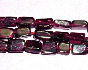 Garnet Gemstone Bead 4-5mm Brick 14 inch STRAND dyed