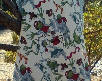 Over the Shoulder Smock Full Woman's Reversible Frog Apron