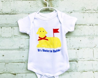 buffalo ny gift // buffalo baby gift // butter lamb onesie // it's butter in buffalo // buffalo baby clothes // buffalo onesie