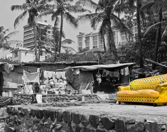 "Mumbai Slum - Photo Art Print - ""SUNNY SOFA"""