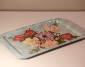 1960's retro floral tea tray
