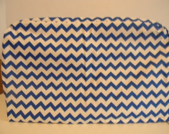 Toaster Oven Cover - Blue Chevron on White Background