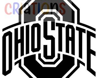 Set of 4 Ohio State Buckeyes logo OSU brutus college football SVG cricut silheoutte cameo cutting file vinyl