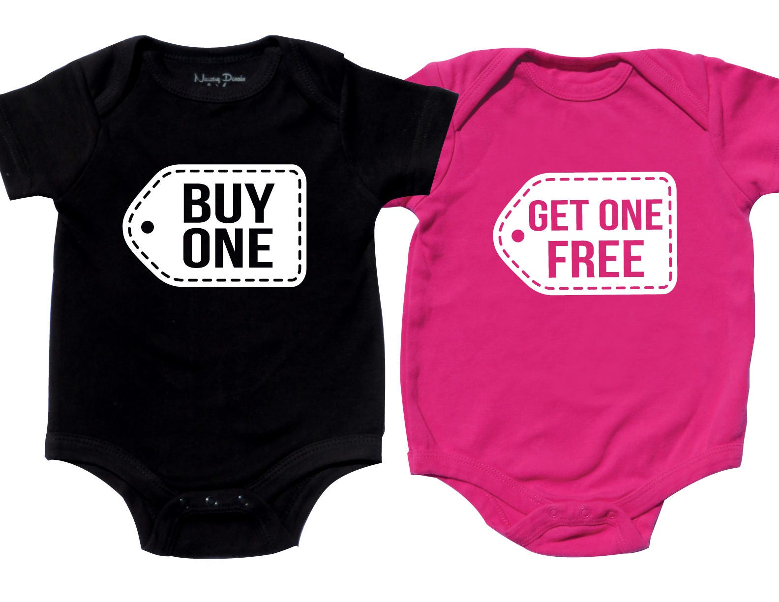 Twins Baby Clothes Funny Twin Shirts Boy Girl Twin Outfits