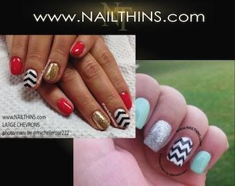 CHEVRON Nail Decal  Full nail wrap nail art design by NAILTHINS