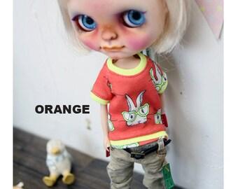 Blythe Rabbit Tshirt -Orange