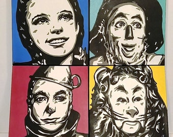 Wizard of Oz, Pop Art, Set of 4, MADE TO ORDER