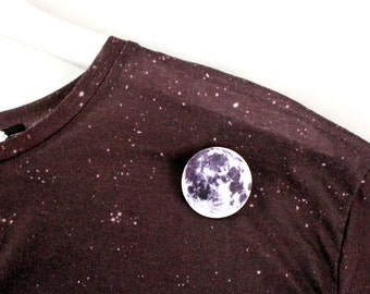 Moon Pin Brooch Planet - Solar System, Universe, Outer Space, Science, Astronomy, Teacher Gift Idea