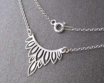 Necklace 925/1000 silver lace pattern