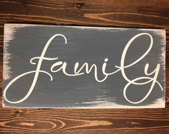 Family wood sign, rustic family sign, home decor, reclaimed wood