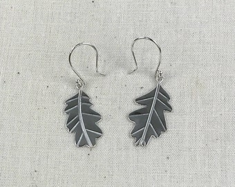 Sterling Silver Oak Leaf Earrings