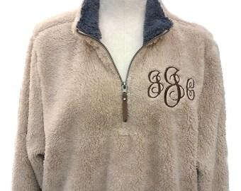 Men's Sherpa Jacket, Monogrammed Jacket, Sherpa Jacket for Men, Warm Jacket, Outside Sherpa Jacket, Monogrammed Sherpa