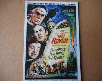 The Raven movie poster magnet Edgar Allan Poe Vincent Price Peter Lorre Boris Karloff Macabre
