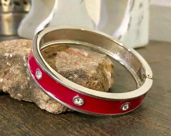 Estate Sale: Hot Pink Bangle Bracelet