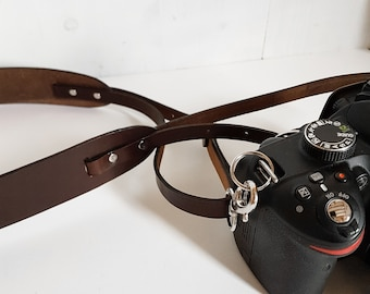 Leather camera strap, Leather Camera shoulder Strap, Camera strap, leather strap, photographer accesories, photography, dslr, brown leather