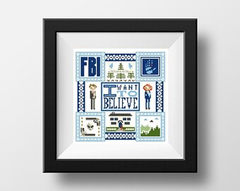 PDF - I Want To Believe Square Cross Stitch Pattern