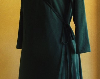 3/4 or long sleeve wrap dress- made from Australian made combed cotton jersey & available in 18 colours!