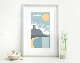 Clavell Tower, Dorset Coast Print, England UK