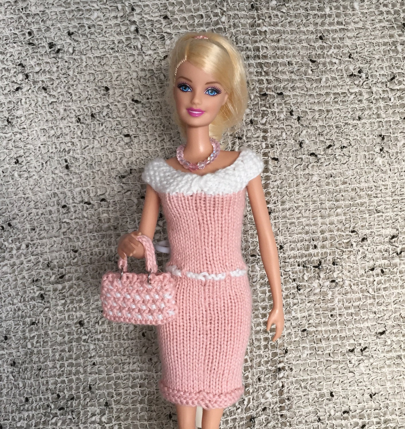 Curvy and Classic Barbie Doll Knitting Pattern for Knitted Dress ...