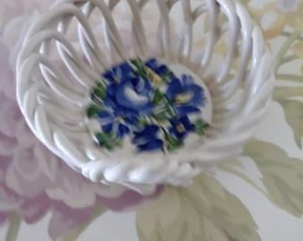 Vintage Ring Basket Hand Painted