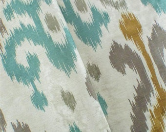 Multi P Kaufmann Ikat Print ChenilleHome Decorating Fabric, Fabric By The Yard
