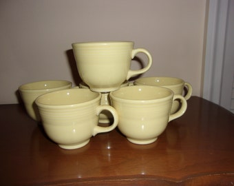 Vintage light yellow Fiesta Ware cups