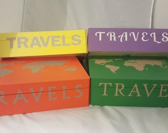 Travel Keepsake Box, Study Abroad Memory Box, Travel Memory Box