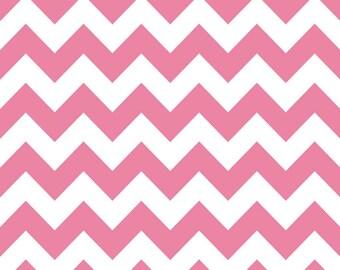 Fabric by the Yard -- Hot Pink Medium Chevron by Riley Blake - 1 yard
