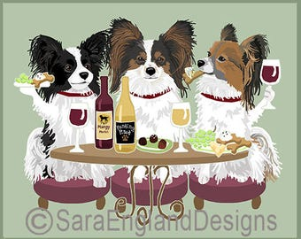 Dogs WINEing - Papillon