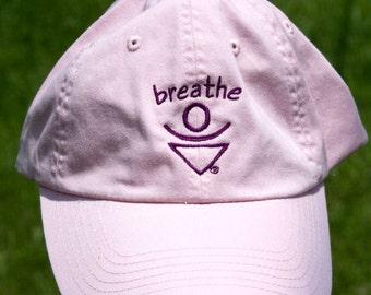 Pink BREATHE Baseball hat