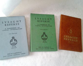 Three 1960's Lysaght Referee - Small Reference Books