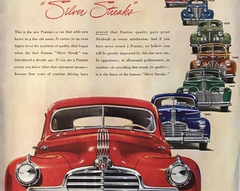 1943 Pontiac Silver Streak-finest of the famous silver streaks-1935 to 1943 silver streak lineup