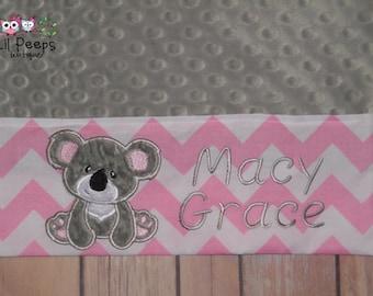 Koala Pillowcase -Personalized Minky Pillowcase with Minky Koala