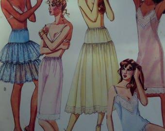 CAMISOLE & PANTIES Pattern • McCalls 3318 • Miss 10-12 • Full Slip Pattern • Petticoat • Sewing Pattern • Womens Pattern • WhiletheCatNaps
