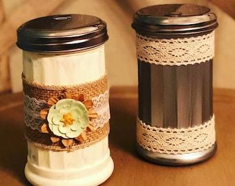 Painted Vintage-Inspired Sugar Glass Jars