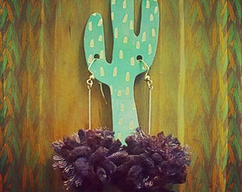 Purple Cactus Poms