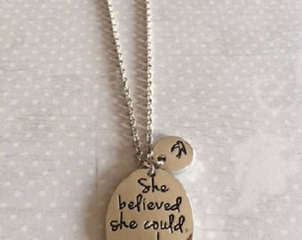 She Believed She Could So She Did Necklace - She Believed She Could - Inspiration Necklace - Encouragement Gift - Friendship Necklace - Gift