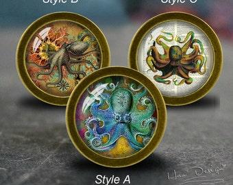Gentil Octopus    Drawer Knobs/ Handmade Vintage Bronze Dresser Knobs Cabinet  Dresser Knobs Pull / Dresser Pull / Cabinet Knobs / Furniture Knobs