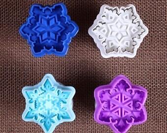 Snowflake Cookie Stamp Cutters, Snowflake Cookie Cutters, Snowflake Cookie Stamps, Christmas Cookie Cutters, Christmas Cookie Stamps