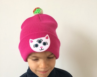 RAVE Kids Hat Childrens Cap with Pom Pom in Acrylic One Size 2 Years Plus Unisex