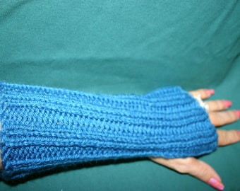 Knitted Fingerless Gloves/Mittens-Amazing Look to keep your hands warm in terrific colors-Turquoise