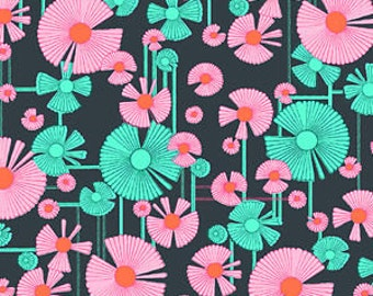 Glow by Amy Butler for Rowan & Westminster - Wind Flower - Berry - Quilt Fabric - Fat Quarter - FQ - Cotton Quilt Fabric 516