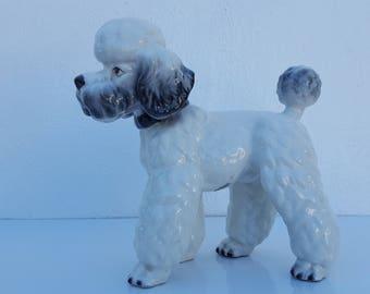 Italian  Decorative Ceramic  Poodle  Figurine .