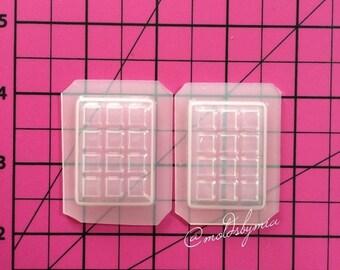 ON SALE! Small chocolate bar flexible plastic resin mold set ~ 2pc