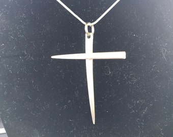 Fork Tine Cross Necklace