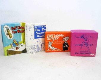 4 Vintage Boxed Gag Gifts. Circa 1970's.