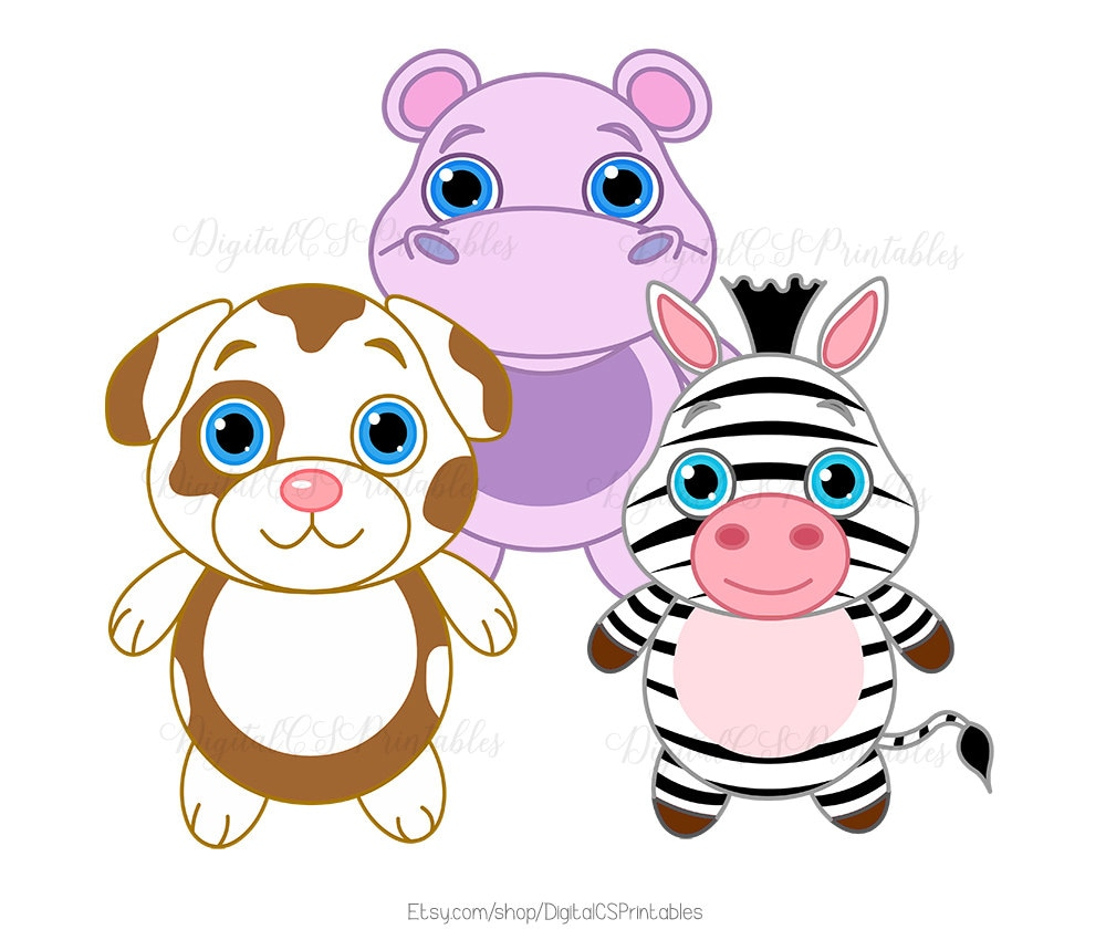 cute animal clipart cute clipart safari animal clipart kids clipart rh etsystudio com